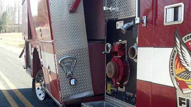 Alamance fire truck crash