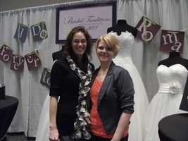 Owner Kelly Shumate of The Bridal Traditions Wedding & Prom Attire booth and sponsor of The Wilkes Wedding Expo.