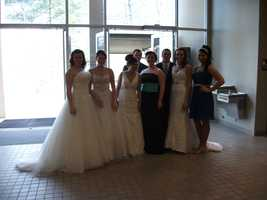 The models did a great job for the Wilkes Wedding Expo Bridal Fashion Show.