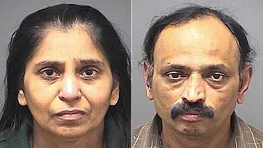 Minaben Patel, left, and Yogesh Patel, right (Guilford County Jail)