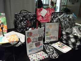 Thirty-One Gifts has all kinds of gifts the couple can buy for the wedding party.
