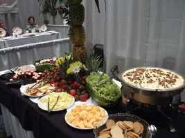 The John A. Walker Center had great catered food from a chef for the couples and guests to try out.