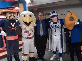 The WXII morning team had a big challenge on its hand Friday -- keeping some ACC mascots in control! Check out the funny photos!