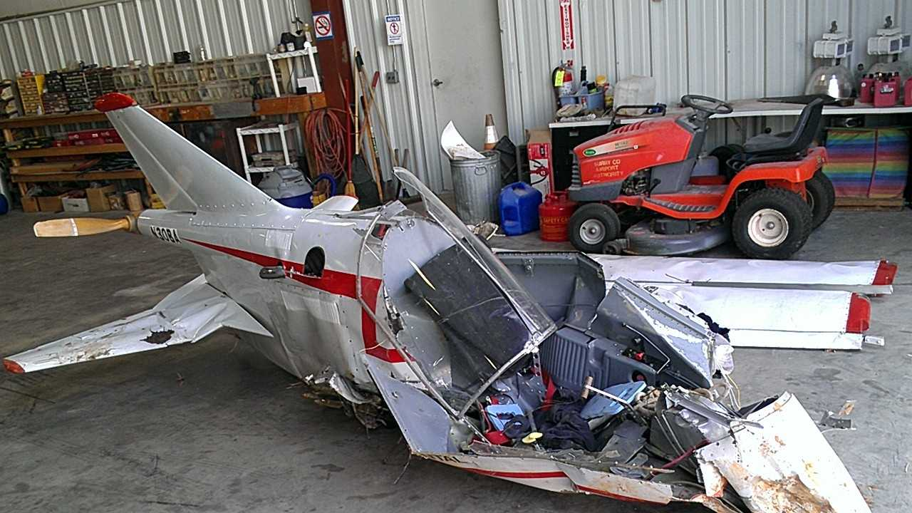 Damaged Surry County plane