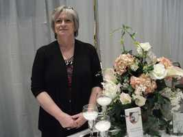 Click here for Cherished Moments Weddings and Events who decorated several areas including her booth at the Wedding Expo.