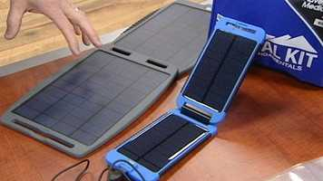 Meanwhile, solar battery chargers can be used to charge phones or tablets, Pulsfort said.