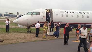 Jet off runway in Charlotte