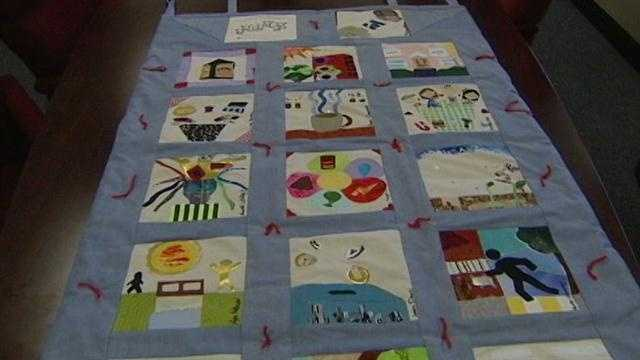This is the quilt presented at the April 23 Martinsville City Council meeting.