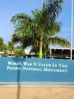 Austin, his wife Angela and the group visited the World War II Valor In The Pacific National Monument.