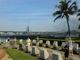 The World War II Valor in the Pacific National Monument is at Pearl Harbor, Hawaii and is one of the top attractions because of its historical significance.