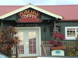 Kauai Coffee Company even has a gift shop with all kinds of coffee and Kauai items.