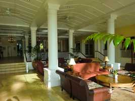 The hotel lobby in Maui. Several hotels have destination weddings and honeymoon packages.