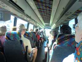 The Holiday Vacations tour group from the Triad are ready for some more traveling on the bus.