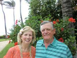 Louie and Geraldine enjoying their Hawaii trip with Holiday Vacations.