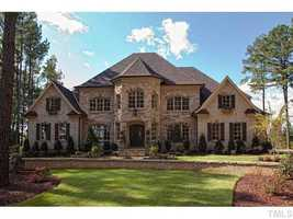 This five bedroom estate in located in Wake Forest. The home provides the best golf course views and is priced at $2,095,000.