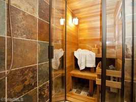 Sauna located in the Master Bathroom