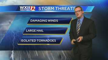 Brian goes over the biggest threats we could see from the storms.
