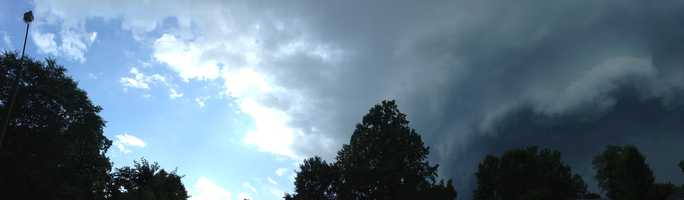 Panoramic of Winston-Salem before the storms. (Thanks, Brian Neal)
