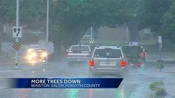 Wet roads in Forsyth County
