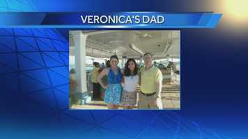 Veronica with her Dad and sister.