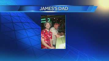 Production Assistant James with his Dad.