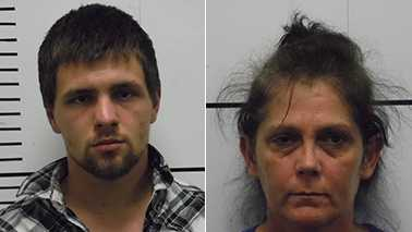 Cody Wayne Burchette, left, and Rose Mary Norman, right