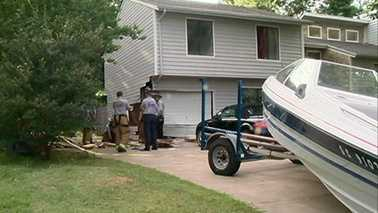 Boat rammed into Charlotte home