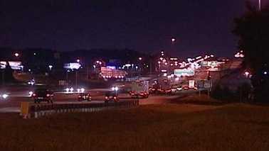 I-40 tour bus motorcycle crash location