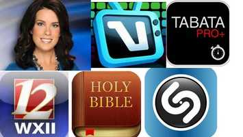 Nicole's Favorite apps:Vidrhythm: Video-sample yourself, your friends, your pets, ANYTHING, and watch VidRhythm instantly mash it up into a crazy video remix!The Bible: Allows users to search across multiple Bible versions by topic or passage. Registered users can add public tags to passages and create private notes linked to a specific verse.Tabata pro: A workout timer that lets you play your music list while it times your sets.WXII: Carry WXII 12 with you whereveryou go and connect to local news.Shazam: recognizes music and media playing around you. Tap the Shazam button to instantly tag, and then explore, buy, share and comment.