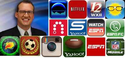 "Brian's Favorite apps: Sleep Machine: provides a huge assortment of professionally mastered ambient sounds designed specifically for achieving a total relaxed state and improving sleep.NFL Mobile:  no one will know the game better than you on iPhones and iPads! This is your exclusive mobile source for coverage of every preseason, regular season and postseason game.ESPN FC: Covering all major leagues and tournaments, the ESPN FC app brings you scores, news, features, blogs, player and team information, stats and much more in what is the most comprehensive football coverage from around the globe.Watch ESPN: Stay connected to live sports and shows from ESPN - wherever and whenever you want them.ESPN: Personalized scoreboards, news, and video highlights from your favorite teams and leagues, highlighting the games you care about.Yahoo Sportacular: Easy access to scores, news and stats in a clean, simple layout. Get personalized live scores and information on your favorite teams, player, and leagues.Yahoo Fantasy Football: If you can't live without Fantasy Football, then you belong with us. To get real-time live scores, matchups, player news and stats.Weather Geek Pro: a premium weather application which brings the world's most advanced weather data right to your fingertips!Netflix:  the world's leading subscription service for watching TV episodes and movies on your phone.Slingbox: With a Slingbox at home, enjoy your live or recorded TV on your iPhone or iPod touch over a 3G, 4G, or Wi-Fi connection. If you own a Slingbox (or are a DISH Network subscriber), click ""More"" for SlingPlayer app compatibility details.Flick Kick: Can you score the match winning goal? See for yourself why Flick Kick Football is an App Store classic that people simply can't put down!Instagram: Customize your photos and videos with one of several gorgeous and custom built filter effects. Transform everyday moments into works of art you'll want to share with friends and family.Radarscope: RadarScope is a specialized display utility for weather enthusiasts and meteorologists that allows you view NEXRAD Level 3 and super resolution radar data along with Tornado, Severe Thunderstorm, Flash Flood Warnings, and predicted storm tracks issued by the National Weather Service. $9.99WXII: Carry WXII 12 with you wherever you go and connect to local news."