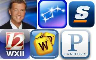 "Cameron's Favorite apps:The Score: The ultimate mobile sports experience. It is the must-have fantasy sports utility.Pandora: Free personalized radio that only plays music you'll love. Just start with the name of one of your favorite artists, songs or classical composers and Pandora will create a custom ""station"" that plays similar music.Words with friends:  Everyone's favorite word game! Play on Facebook, iOS, Android and Kindle Fire.Star walk: The most beautiful stargazing app you've ever seen on a mobile device. It will become your go-to interactive astro guide to the night sky, following your every movement in real-time and allowing you to explore over 200, 000 celestial bodies with extensive information about stars and constellations that you find.WXII: Carry WXII 12 with you wherever you go and connect to local news."