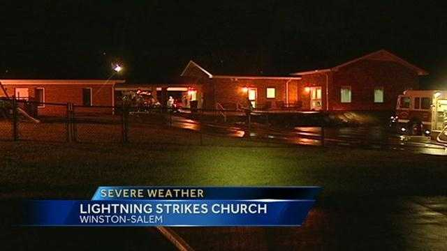 Winston-Salem church fire image