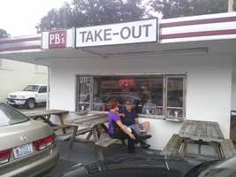 This week's stop is a Facebook request...P.B.'s Takeout. Another good choice from our viewers !