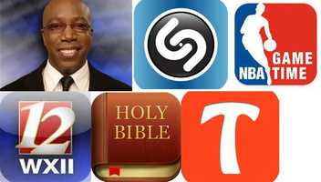 Busta's Favorite Apps:Tango: gives you the highest quality video & phone calls, texts, photo & video sharing, games and more for FREE!NBA Game Time:  mobile app also includes photos, scores and stats. With the NBA GAME TIME mobile app, you get the best of the NBA where ever you are!The Bible: Allows users to search across multiple Bible versions by topic or passage. Registered users can add public tags to passages and create private notes linked to a specific verse.WXII: Carry WXII 12 with you whereveryou go and connect to local news.Shazam: recognizes music and media playing around you. Tap the Shazam button to instantly tag, and then explore, buy, share and comment.