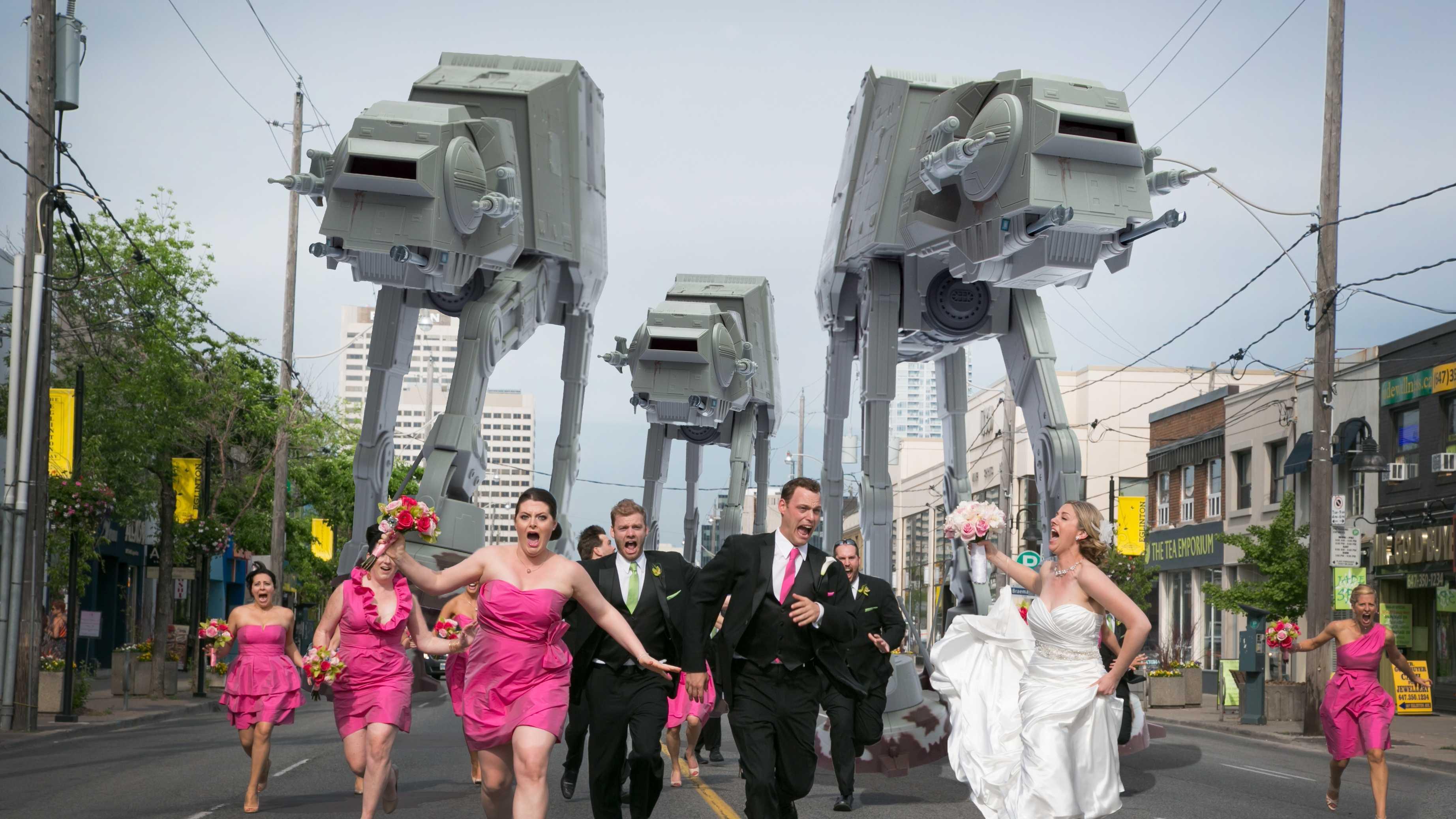 Star Wars Wedding Theme Photos