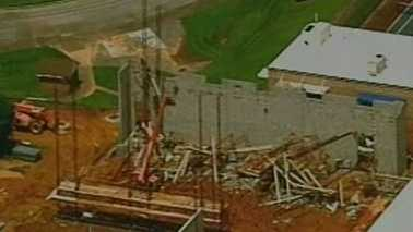 Scaffolding collapse at NC high school