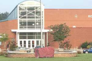 Reagan High School was vandalized with spray paint Friday morning.