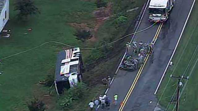 Military charter bus crash 082313