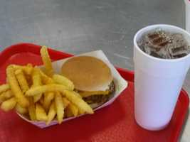 """It has been awhile since I had eaten here. So Ron """"insisted"""" that I eat a cheeseburger tray. The things I have to do...geez!"""