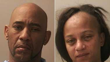 Richard Moore, left, and Cammesoa Williams, right