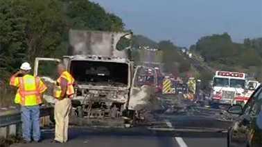 I-81 fatal crash and fire