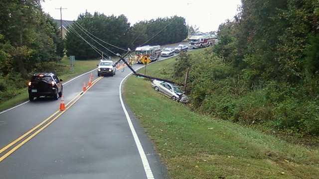 Marty Lane car hit pole