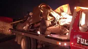 Authorities say seven people were taken to the hospital after a wreck in Stokes County early Wednesday morning.