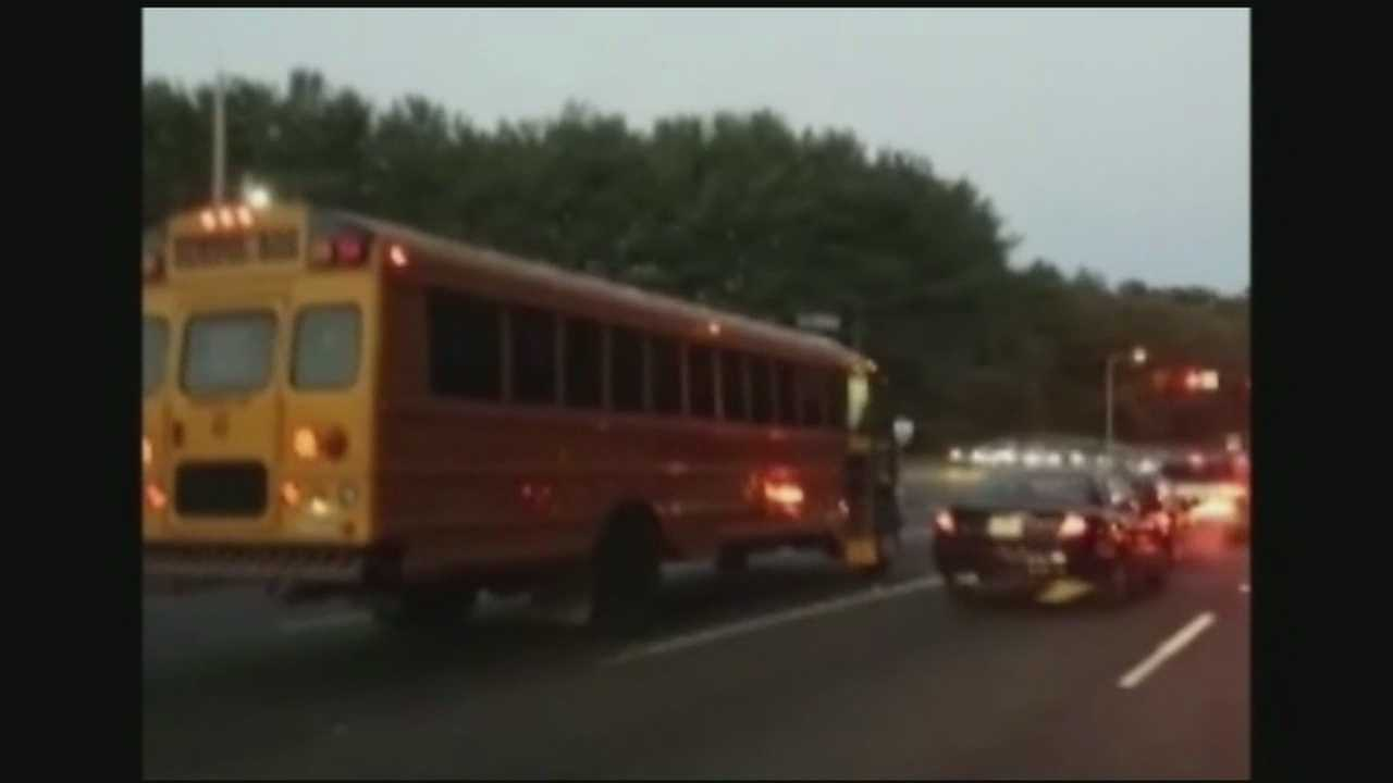 W-S school bus driver caught shouting at woman