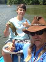 15. Austin loves taking Austin II on float trips with his good buddy Judson Conway (his brother Eustus is on Mountain Man).