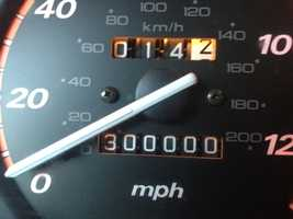 4. Austin's car just went over the 300,000 mile mark! Way to go!