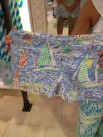6. Of course, he usually ends up getting his daughter Lacey Lily Pulitzer shorts as well.