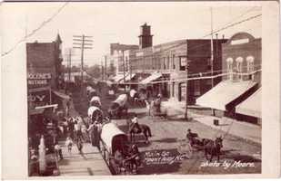 10. Mount Airy began as a stage coach stop and by 1860 had grown to a population of 300. It was named for a nearby plantation. Mount Airy was incorporated in 1885.