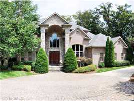 This five bedroom home was the Golden Award Winner of the 2002 Parade of Homes. Located in Winston-Salem, the home is priced at $1,449,000.