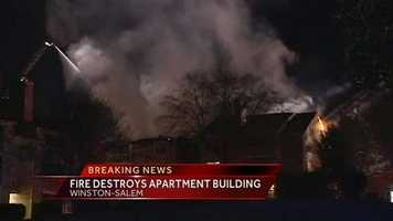 Firefighters battled an apartment fire Monday morning on Glen Eagles Drive in Winston-Salem.